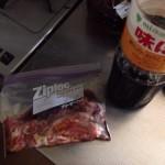 豚肉(コマ切れ)のポン酢漬け(味ぽん漬け)を焼いて食べてみたらあの味だった