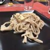 「福島の美味しいものと日本酒ナイト」矢大臣うどんカルボナーラのうまさよ #福島美味
