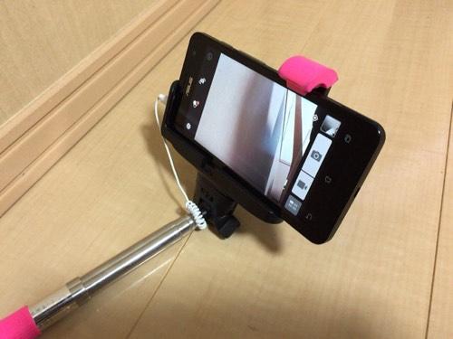 Zenfone5(ASUS SIMフリーAndroid)でイヤホンジャック式自撮り棒は使えるのか?