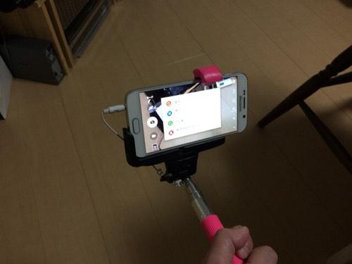 Galaxy S6(NTTドコモ SC-05G)でイヤホンジャック式自撮り棒を使うときの注意点