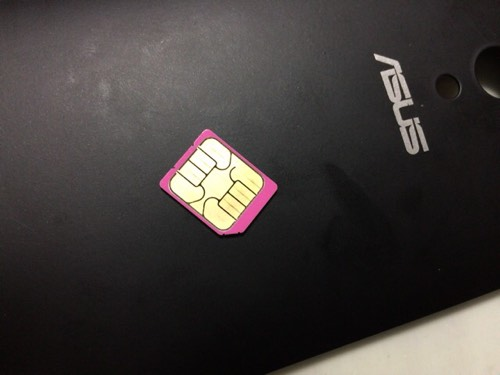 Zenfone5の楽天モバイルSIMをドコモGalaxy S6に挿すにはSIMカードサイズ変更が必要