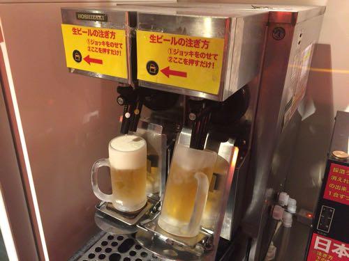 ビールは全自動