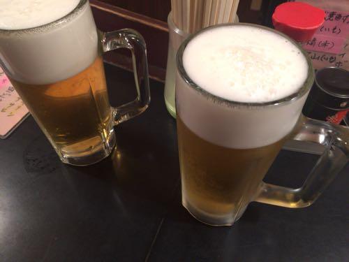 生ビール。アサヒにしました