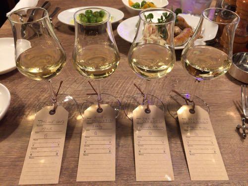 白ワインのテイスティングセット