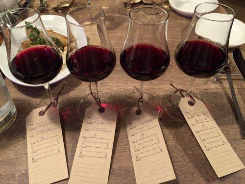 赤ワインのテイスティングセット